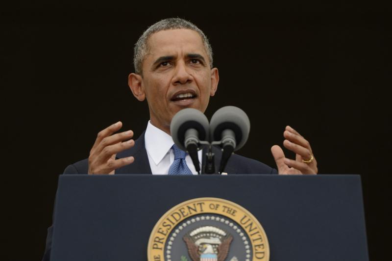 Barack Obama no evento Let Freedom Ring Foto: Lusa