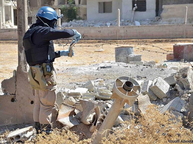 Inspetores da ONU na Síria [Reuters]