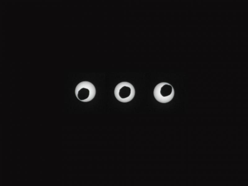 NASA capta eclipse solar em Marte (Imagem NASA)