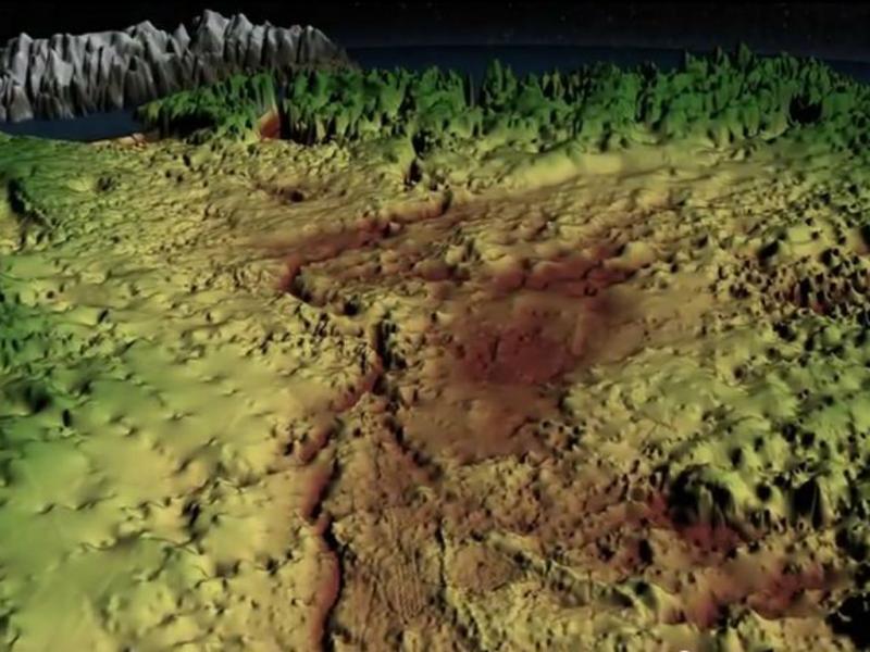 Desfiladeiro natural descoberto na Gronelândia (Reprodução/Youtube)