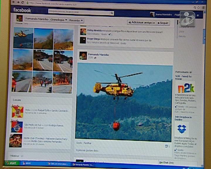 Incendiário do Caramulo partilhou fotos no Facebook