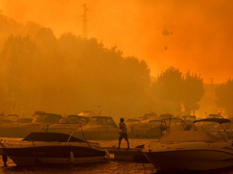 Incêndio em Gondomar (Lusa)