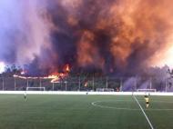 Incêndio em Gondomar ameaça estádio (foto: Pedro Pinheiro)