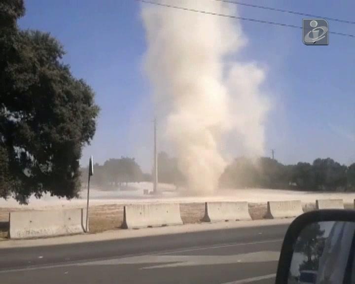 Fenómeno parecido a um tornado junto ao santuário de Fátima