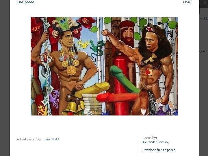 Obra revela Obama e Putin sem «roupa»