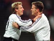 Jürgen Klinsmann e Olivier Bierhoff no Euro 1996 (Reuters)