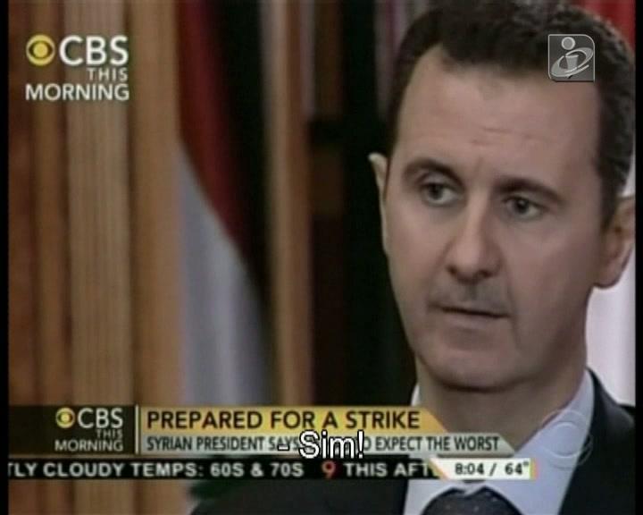 Assad avisa: «Ninguém esperava o 11 de setembro»