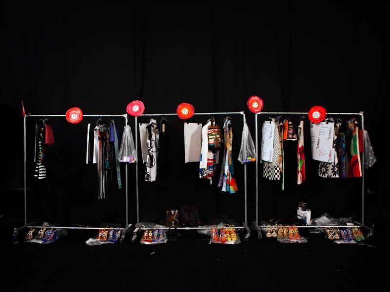 Bastidores da semana de moda de Nova Iorque