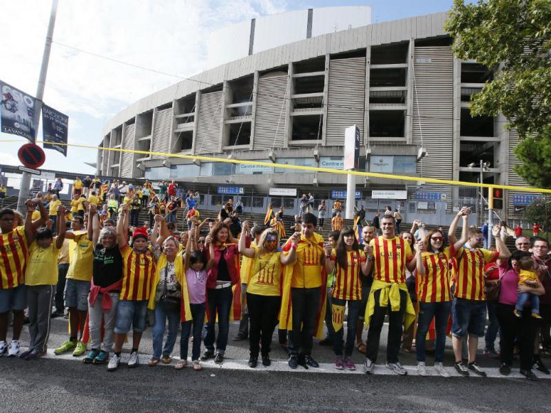 Cordão humano de 400 km na Catalunha [Reuters]