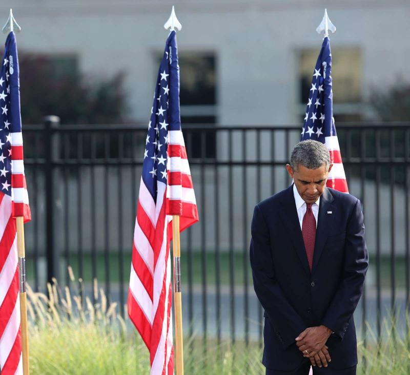 Obama presta homenagem às vítimas do 11 de setembro (REUTERS)