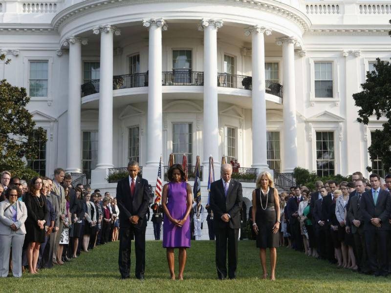 Casa Branca: Obama e Biden prestam homenagem às vítimas do 11 de setembro (REUTERS)