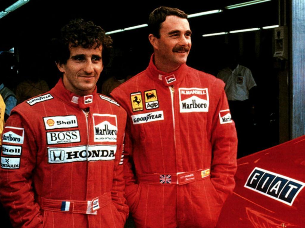 Alain Prost e Nigel Mansell
