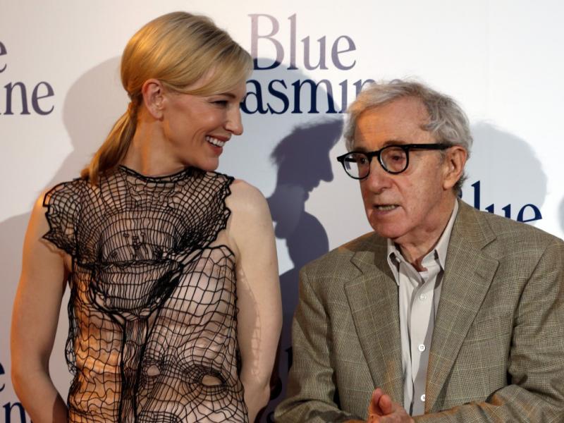Cate Blanchett e Woody Allen na antestreia de «Blue Jasmin» em Paris (Reuters)
