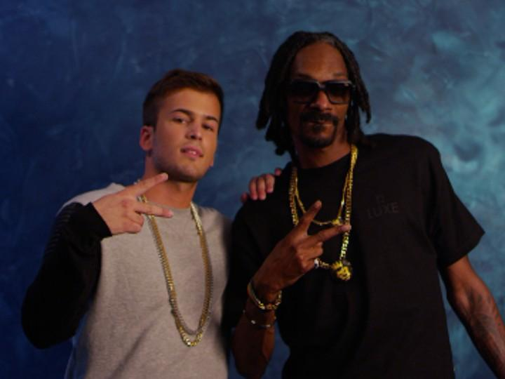 David Carreira canta com Snoop Lion (Facebook)