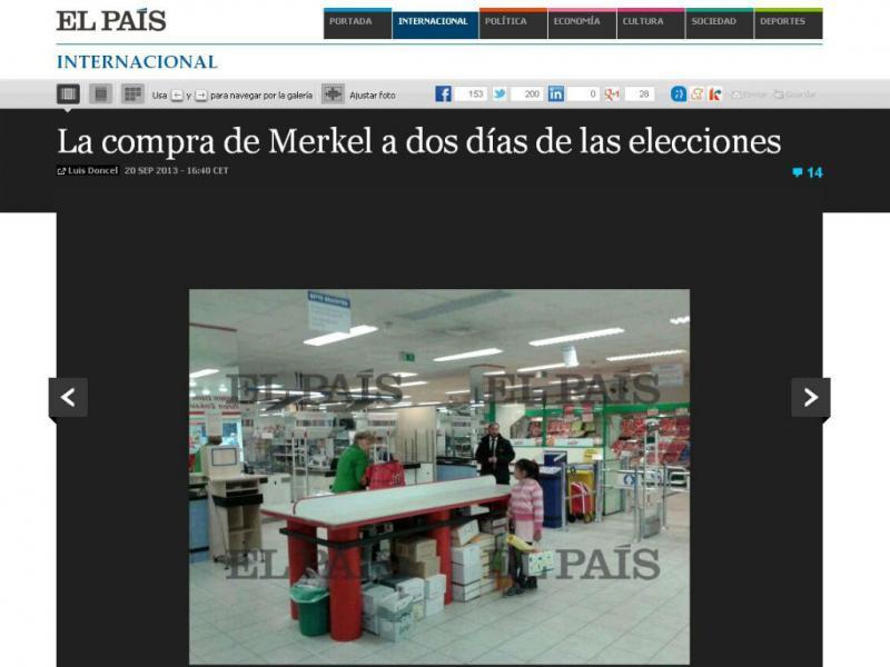 Merkel às compras