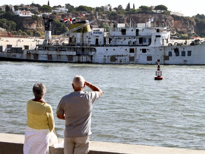 Último navio do parque subaquático do Algarve afundado [LUSA]