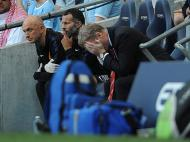 David Moyes no Manchester City-Manchester United (EPA)