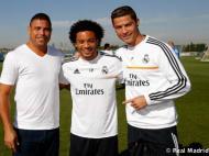 Ronaldo Fenómeno com Marcelo e Cristiano Ronaldo