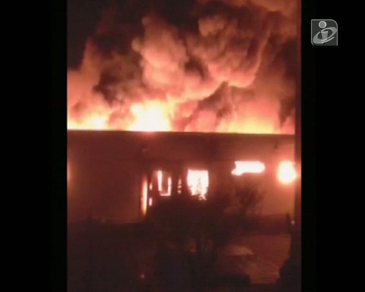 Incêndio em Fábrica de Mirandela