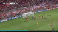 Olympiakos-PSG (Liga dos Campeões): primeiro golo de Thiago Motta, ao primeiro poste, depois de canto da esquerda de Lavezzi.