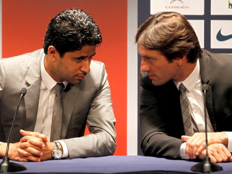 Nasser Al-Khelaifi e Leonardo [Reuters]
