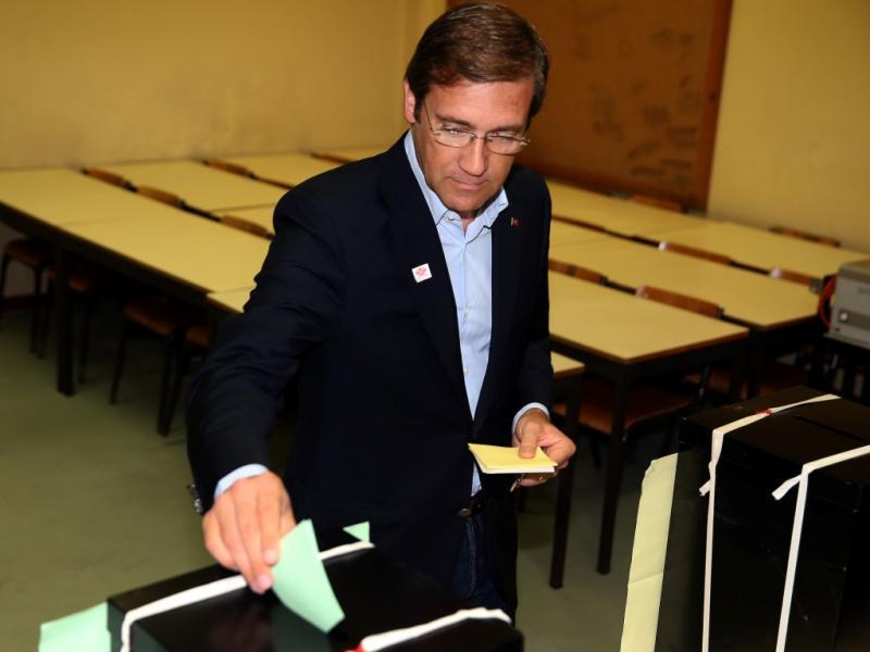 Passos Coelho vota nas eleições autárquicas (Lusa)