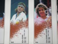 Roland Garros: Borg e Evert-Lloyd, duas lendas do ténis e da terra batida [Foto: Luís Mateus]