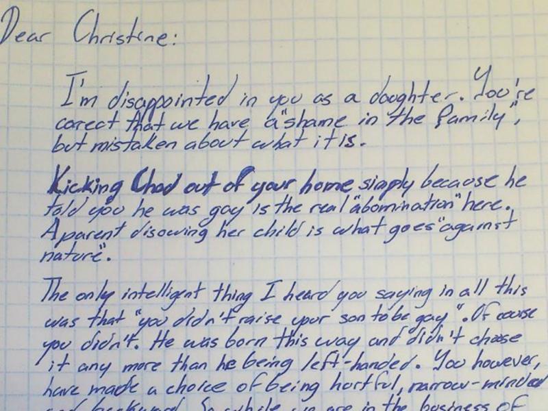 Avô escreve carta a filha para defender neto gay (reprodução / Facebook FCKH8)