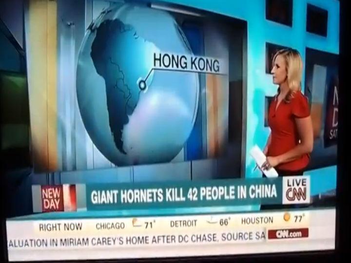 Vídeo mostra erro geográfico da CNN (Foto Reprodução Youtube)