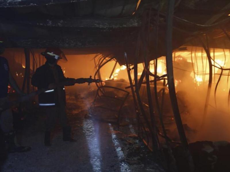 Incêndio em fábrica têxtil no Bangladesh [Reuters]