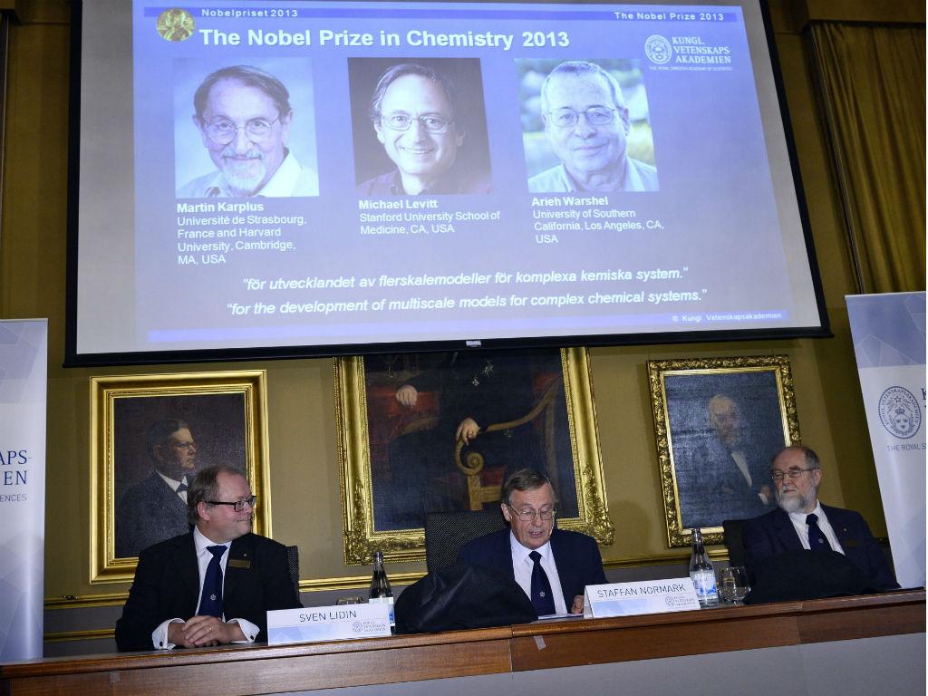 Nobel da Química 2013 (EPA/CLAUDIO BRESCIANI)