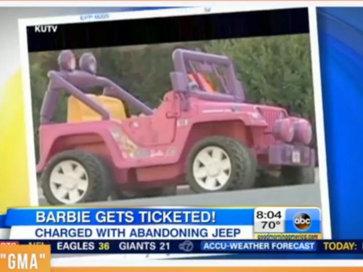 Jipe da Barbie foi «multado»