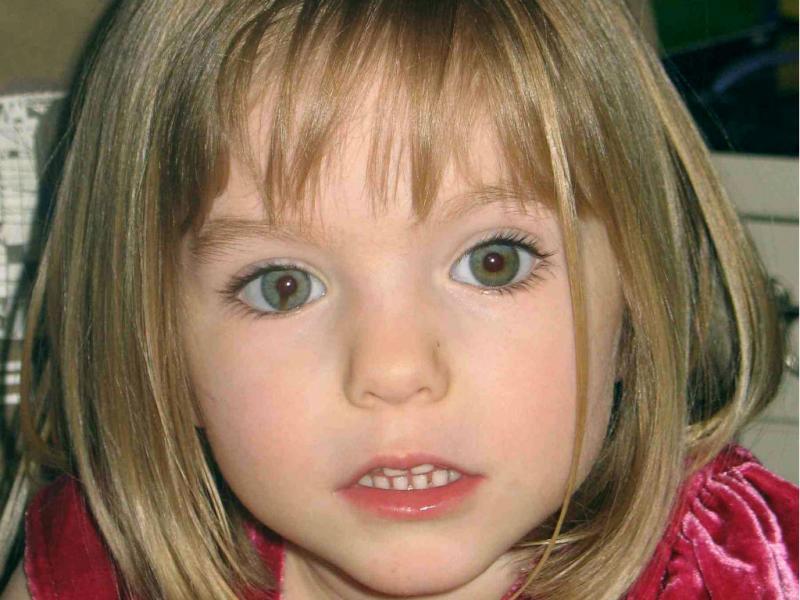 Maddie, numa imagem em que se assinala uma característica única, num dos olhos. (REUTERS/David Moir)