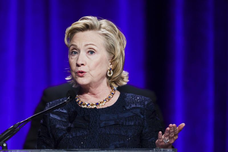 Hillary Clinton - 12ª Gala de beneficência da  Elton John AIDS Foundation no Cipriani em Nova Iorque Foto: Reuters