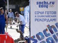 Preparativos para os Jogos Olímpicos de Inverno (EPA)