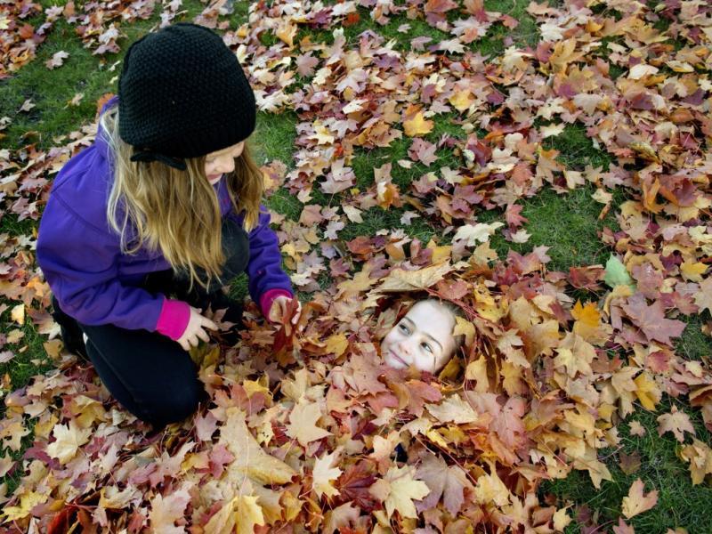 Outono de brincadeiras em Estocolmo (Reuters)