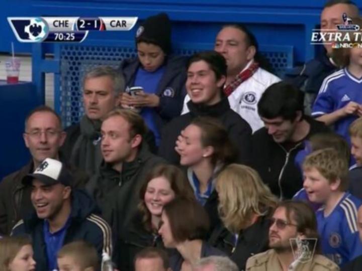 Mourinho na bancada