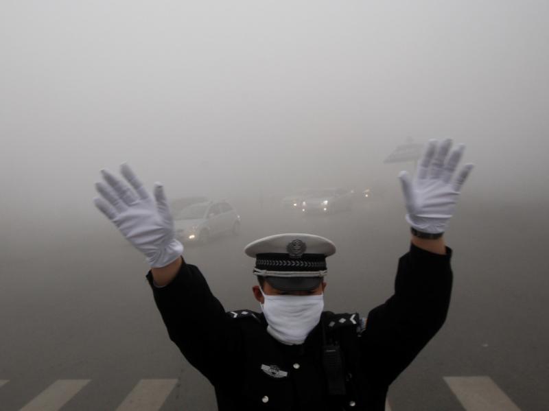 Smog «fecha» cidade de 11 milhões de habitantes (REUTERS/Stringer)