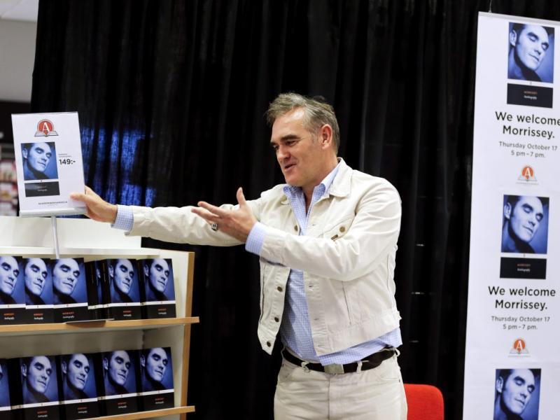 Morrissey no lançamento de «Autobiography» em Gotemburgo, na Suécia (Reuters)