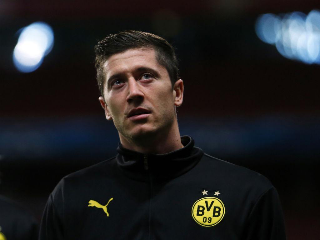 Treino do Borussia Dortmund no Emirates (EPA)