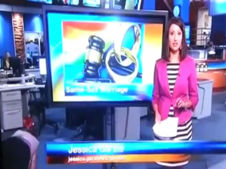 Vídeo mostra funcionária a cair sem a apresentadora notar (Foto Reprodução/Youtube)