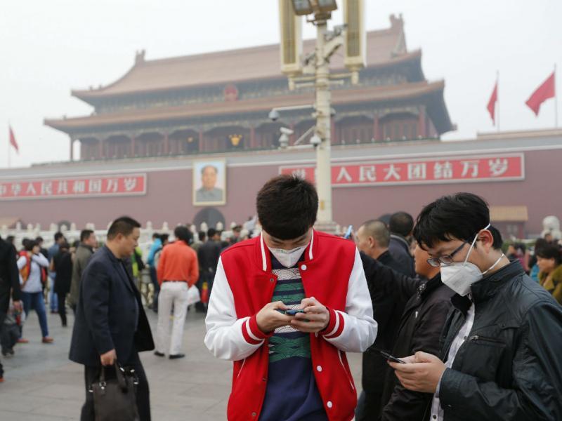 Acidente na Praça Tiananmen, em Pequim (EPA)