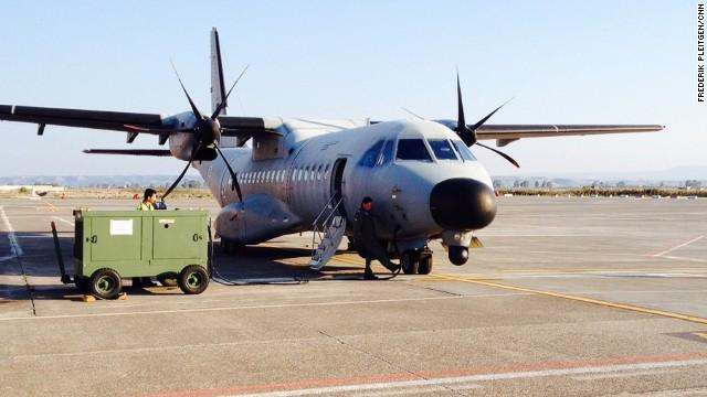 Força Aérea Portuguesa em missão em Lampedusa (CNN/Frederik Pleitgen)