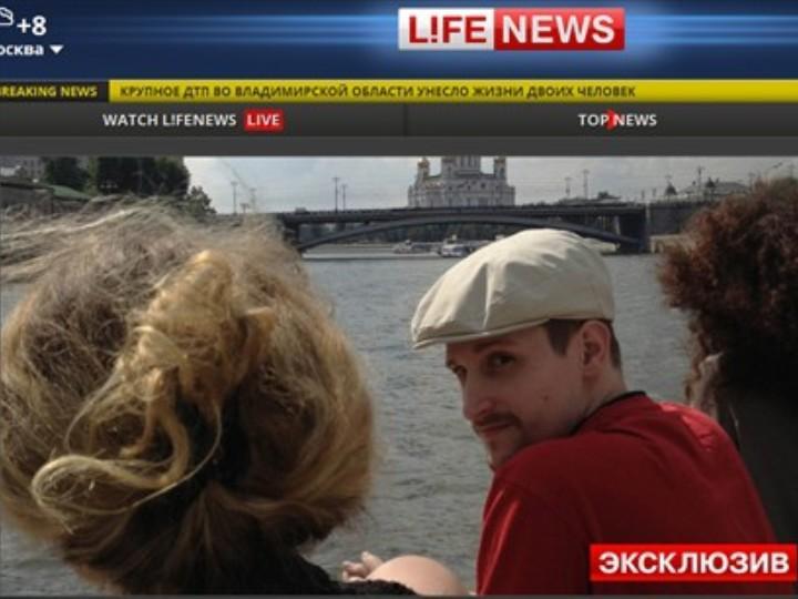 Nova foto de Edward Snowden em Moscovo (site Life News)