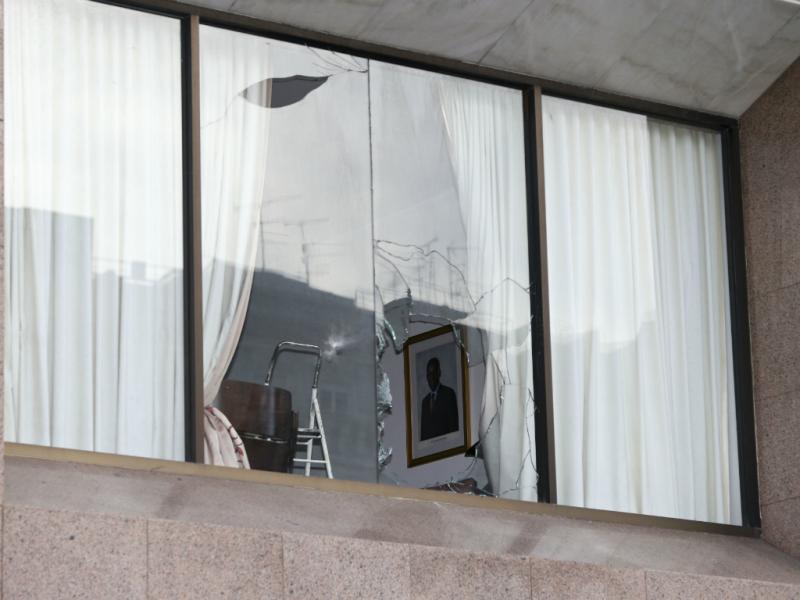 Embaixada de Angola vandalizada (Lusa/Miguel A. Lopes)