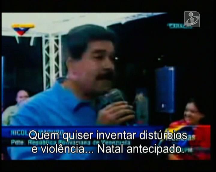 Maduro decide que já é Natal na Venezuela