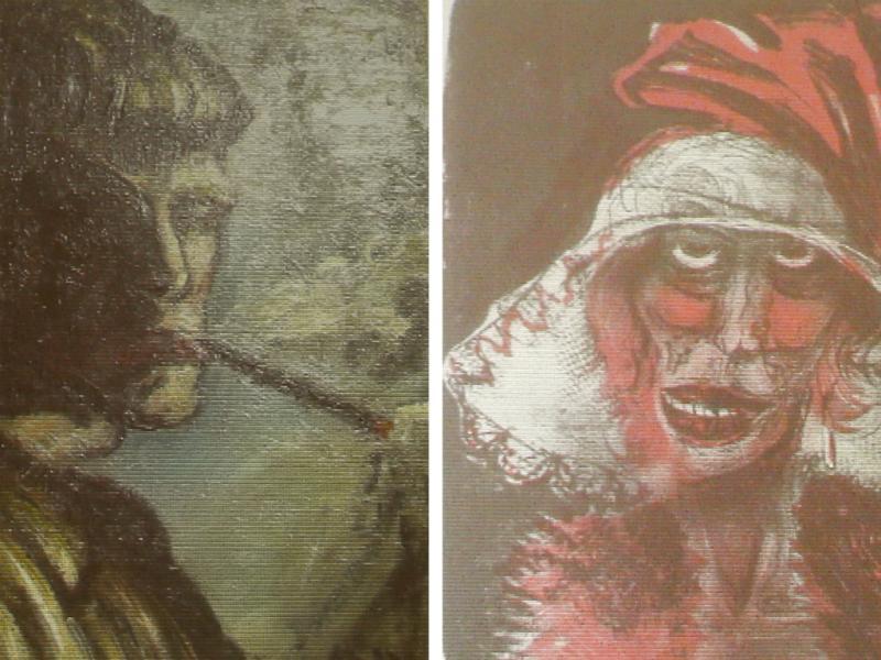 Combinação de dois dos quadros roubados pelos Nazis (Reuters)