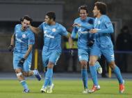 Danny, Hulk, Bruno Alves e Witzel no Zenit (Reuters)