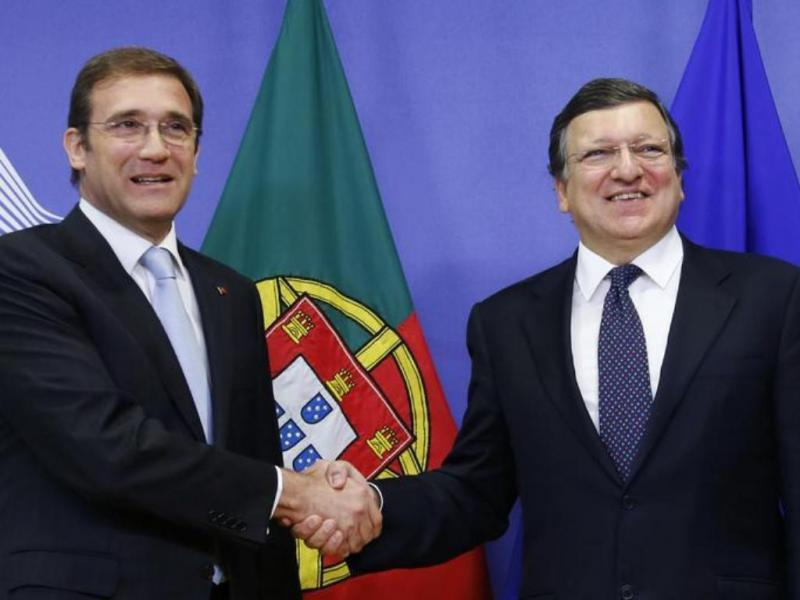 Passos Coelho e Durão Barroso na Comissão Europeia (Reuters)