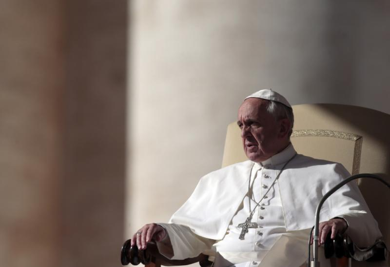 Papa Francisco na audiência geral do Vaticano Foto: Reuters